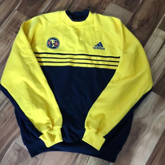 quality design d2e97 5079f Adidas Sweater Jersey America Soccer Team Sz L
